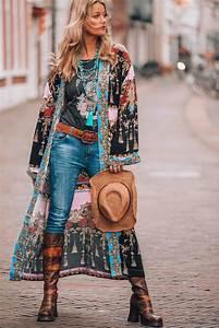 Mode Hippie Chic : bohemian chic hippie style kimono mode boho fashion ~ Voncanada.com Idées de Décoration