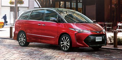 toyota tarago facelift due   coming months