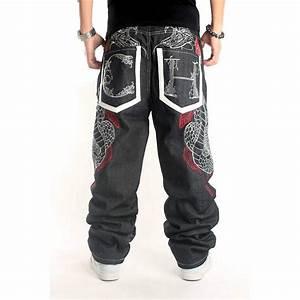 2016 Fashion Harem Men Baggy Jeans Big Sizes 44 Mens Hip Hop Jeans Long Loose Fashion Skateboard ...