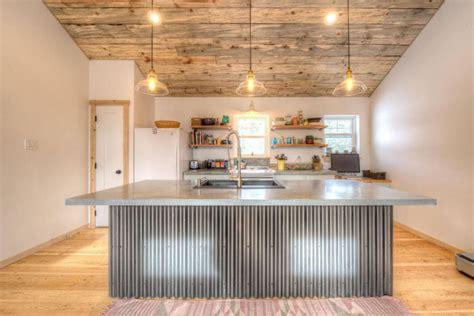 corrugated metal kitchen island rustic kitchen island in modern rustic kitchen island 5883