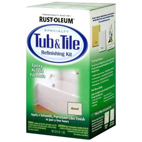 Rustoleum Tub And Tile Refinishing Kit Colors by Rust Oleum Specialty 1 Qt Almond Tub And Tile Refinishing