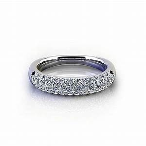 tapered pave wedding ring jewelry designs With tapered wedding ring