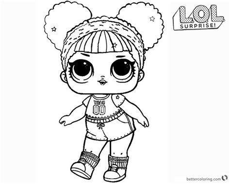 lol surprise doll coloring pages hoops mvp glitter