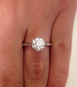1 ct round cut diamond solitaire engagement ring 14k white for 1 ct wedding ring