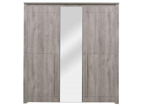 jeux de ranger les chambre armoire 3 portes battantes coloris chêne gris vente