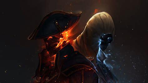 Mass Effect Wallpaper 4k Download 1920x1080 Hd Wallpaper Assassin S Creed Black Flag Cape Skull Fire Spark Spell Desktop