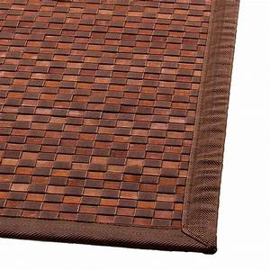 Tapis Bambou Casa : alfombra bamb 170 cm en cuadros chocolate alfombra para la casa eminza ~ Teatrodelosmanantiales.com Idées de Décoration