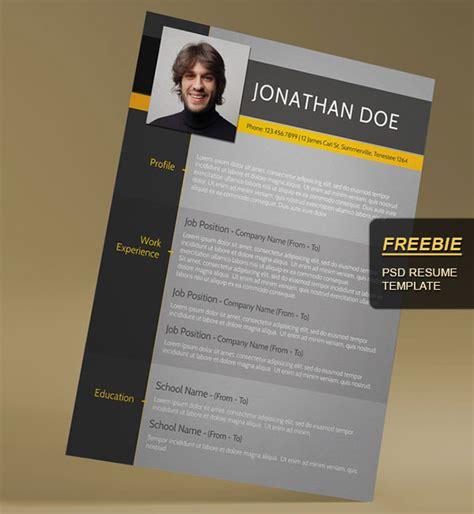 Free Photoshop Resume Templates by 28 Minimal Creative Resume Templates Psd Word Ai
