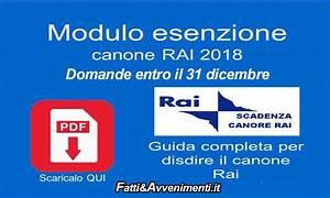 Esenzione Canone Rai, domande entro il 31 dicembre: ecco i moduli e come fare Fatti & Avvenimenti