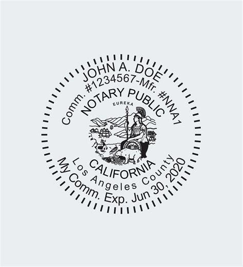 california notary seals nna