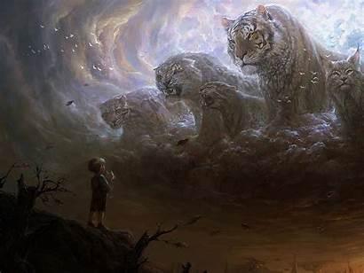 Fantasy Animal Cat Council Sky Animals Kings