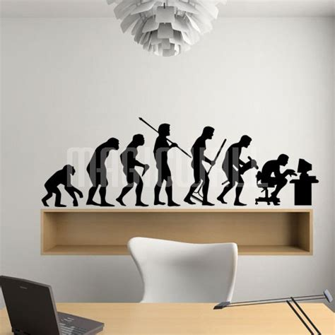 human evolution wall decals canada wall stickers