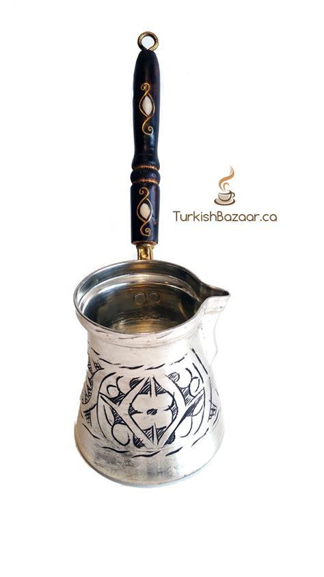 Stylish Hand carved X Large Turkish Coffee Copper Pot   El Islemeli   Bakir Kahve Cezvesi