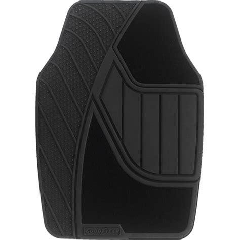 Car Floor Mats Walmart by Goodyear 4pc Premium Carpet Rubber Floor Mats Black