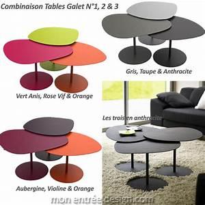 Table Basse Grise Pas Cher : table basse gigogne galet le bois chez vous ~ Teatrodelosmanantiales.com Idées de Décoration
