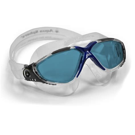 aqua sphere vista swimming mask blue lens sweatbandcom