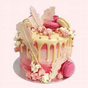 White Chocolate Ganache - Pink Flamingo Cake Anges de