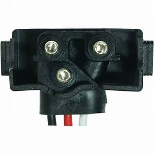 3-prong Plug Molded Connector Pigtail For Lights