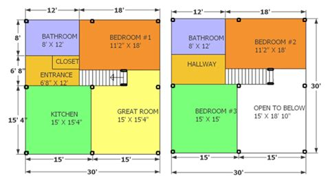 30 x 30 with loft floor plans 30x30 cabins with lofts images studio design gallery