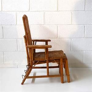 Chaise Enfant Rotin : transat enfant rotin vintage la marelle mobilier vintage pour enfant ~ Teatrodelosmanantiales.com Idées de Décoration