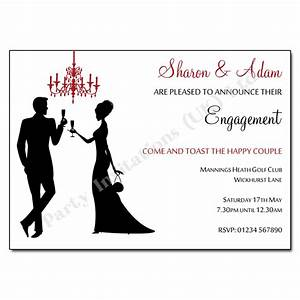 silhouettes chandelier engagement invitation engagement With wedding invitations with engagement pictures