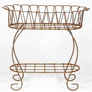 Wrought, Iron, Scalloped, Fernery, Plant, Stand