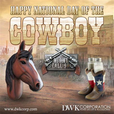 happy national day   cowboy dwkcorp homedecor