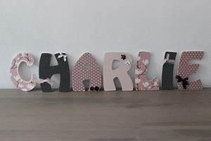 Déco Prénom Bébé : lettres en bois personnalis es pr nom b b enfant chambre ~ Teatrodelosmanantiales.com Idées de Décoration