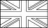 Flag Coloring Pages National Flags United Union Jack Kingdom Template Printable Bunting American Wecoloringpage British England Britain Sheets States Drawing sketch template