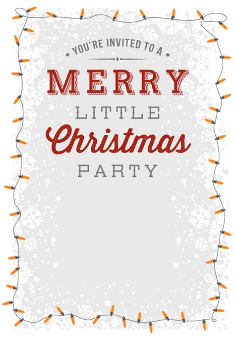 merry  party  printable christmas invitation