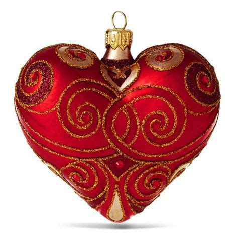 red heart  heart christmas ornaments ornaments