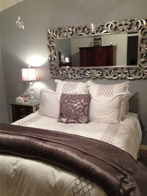 master bedroom accessories best 25 no headboard ideas on pinterest bedroom decor 12226 | a15860ed374f64c83177ea40e0f023a1 silver bedroom decor purple and grey bedroom ideas decor