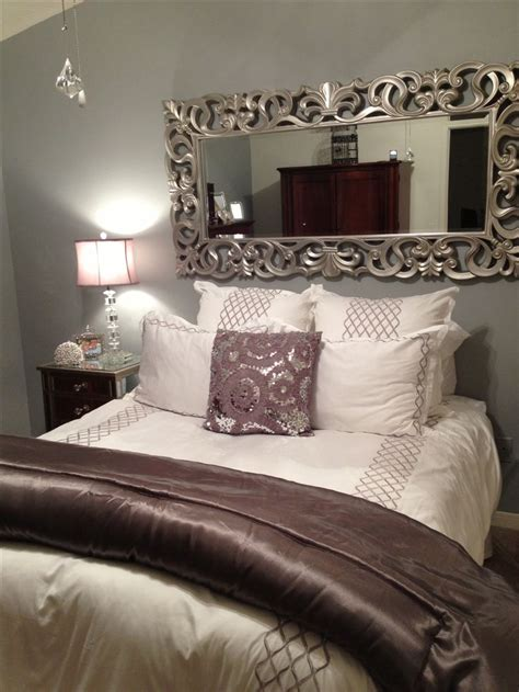 mirror headboard ideas  pinterest glam