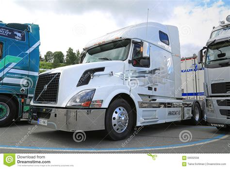 volvo white truck white volvo vnl truck tractor editorial stock photo