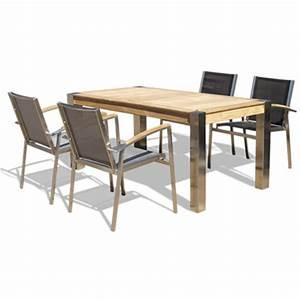 Table De Jardin En Bois Pas Cher : table et chaise de jardin a prix discount ~ Teatrodelosmanantiales.com Idées de Décoration