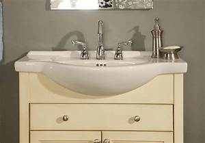 Small vanity sinkfresca bath fvn5024wh quadro pedestal for How deep is a bathroom vanity