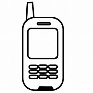 Cell Phone Clipart Black And White | Clipart Panda - Free ...