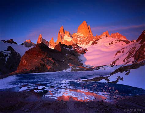 Monte Fitz Roy Alpenglow Patagonia Argentina Mountain