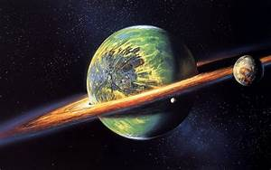 Planet with ring of fire wallpapers and images ...