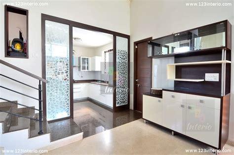 zelmar kitchen designs dining made partition with jaali modular crockery 1238