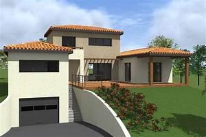 projet de construction dune maison sur sous sol a With maison avec sous sol sur terrain en pente
