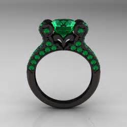 black gold emerald engagement rings black gold rings black gold rings emerald