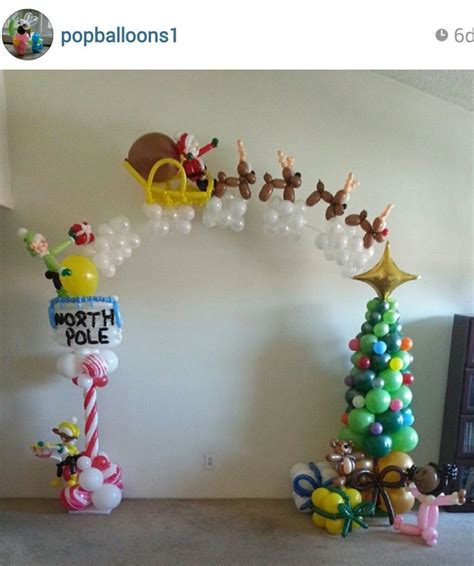 91 best christmas holiday balloondecor images on pinterest