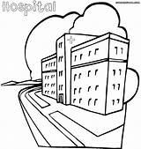 Hospital Coloring Hospital1 sketch template