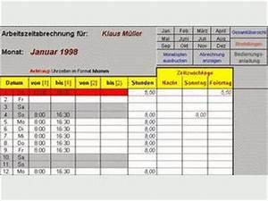 Arbeitszeit Mit Excel Berechnen : excel arbeitszeitmodul kostenlos downloaden ~ Themetempest.com Abrechnung