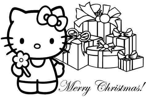Hello Kitty Christmas Coloring Pages #1 Hello Kitty Forever