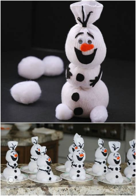 sock snowman olaf toys diy crafts easy animal projects snowmen quick frozen disney diyncrafts