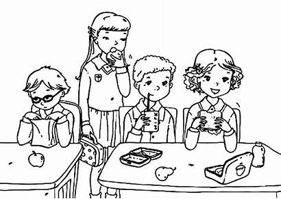 Colouring Pages Eat Student Coloring Lunchbox Lunch