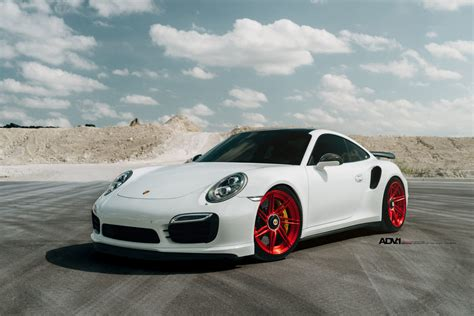 porsche white car white porsche 911 turbo s adv07r m v2 cs series