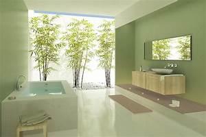 quel revetement mural choisir pour la salle de bain With ambiance zen salle de bain